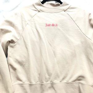 Nike Raglan Sleeve Mock Neck Sweatshirt